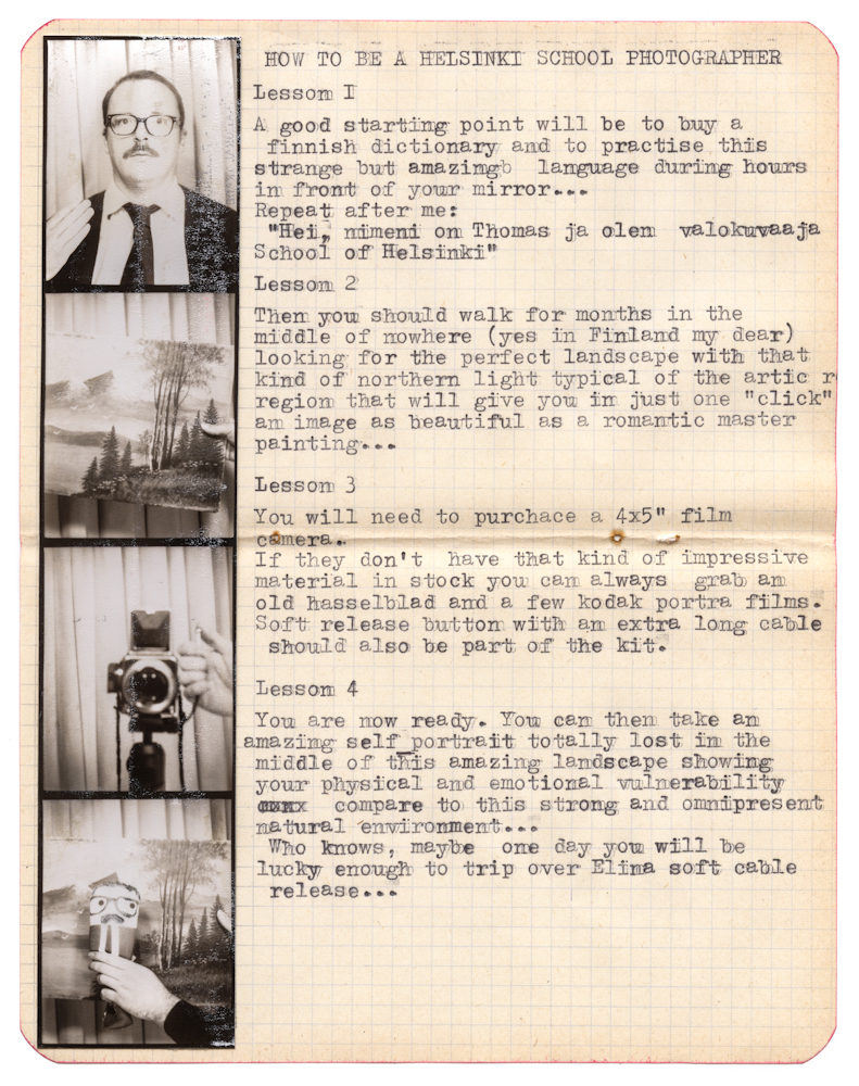 Thomas Vanden Driessche, How to be a photographer