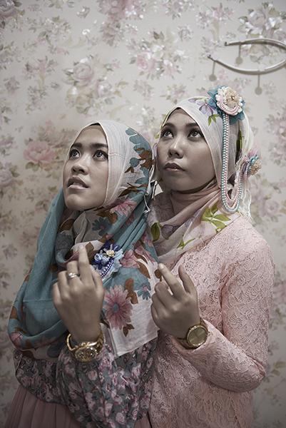 Hijab  Bandung Île de Java Indonésie 11/2013