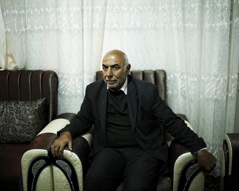 Frontière syrienne - Général Abdullateef Al Joboree, fondateur de la première division de l'armée syrienne libre, huits mois avant sa mort dans le bobardement de son QG dans la province d'Idlib.