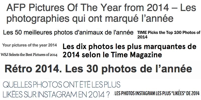 Comprendre les best of photos de l'année
