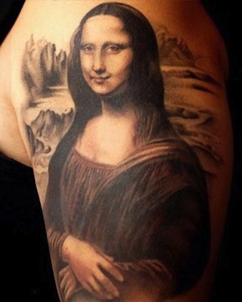 Tatouage-La-Joconde-Léonard-de-Vinci