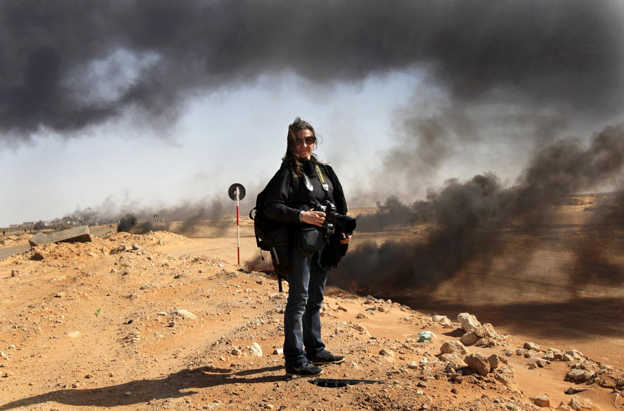 Lyndsey Addario en Libye en 2011 © John Moore / Getty Images