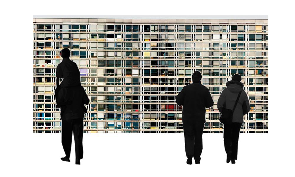 Simulation avec la photo de Andreas Gursky, Montparnasse, 206 x 406 cms