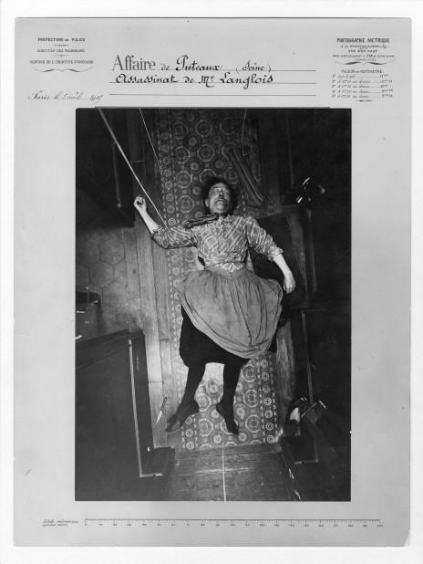 Alphonse Bertillon, Assassinat de Madame Langlois, affaire de Puteaux, le 5 avril 1905, Préfecture de police de Paris, Service de l'Identité judiciaire. (Archives de la Préfecture de police de Paris)   via