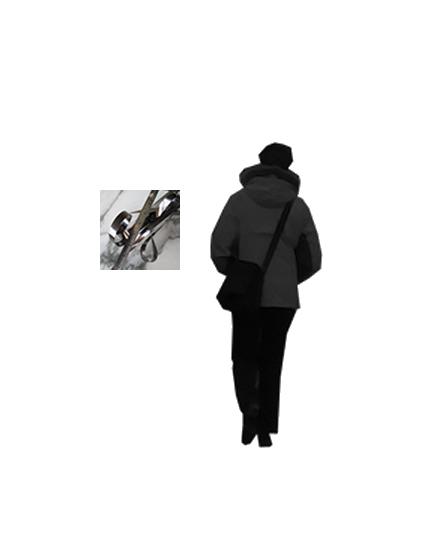 Simulation avec Lydia Flem , Le Temps Froissé, série actuellement exposée à la Mep