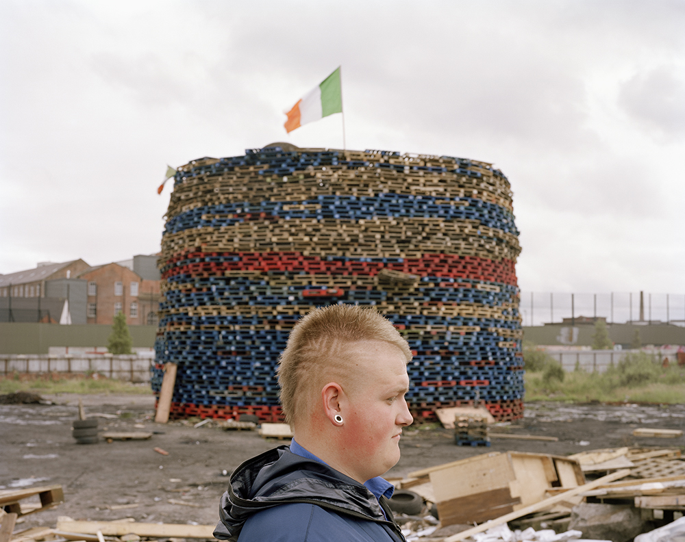 Bonfire n° 100, West Belfast, 2012
