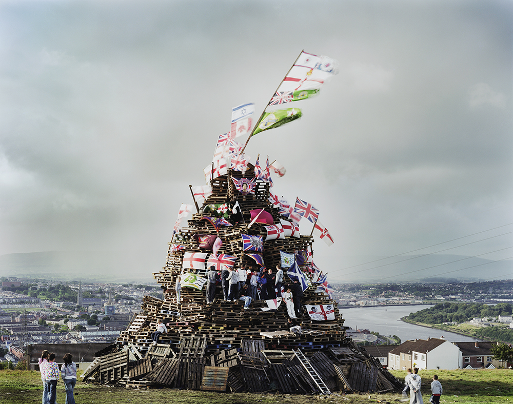 Republican Bonfire, Top of the Hills, Derry Waterside, 2007