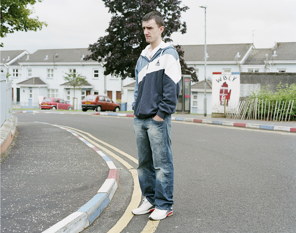 Darrell Proctor in the Fountain Estate, a strong loyalist area, Derry 2007