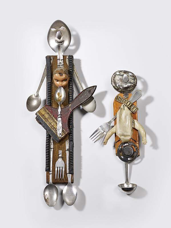 Titre  : Deux sculptures haïtiennes représentant le loa Ogoun, XIXe siècle © musée du quai Branly, photo Claude Germain, Mentions obligatoires  : Surnatéum, Bruxelles