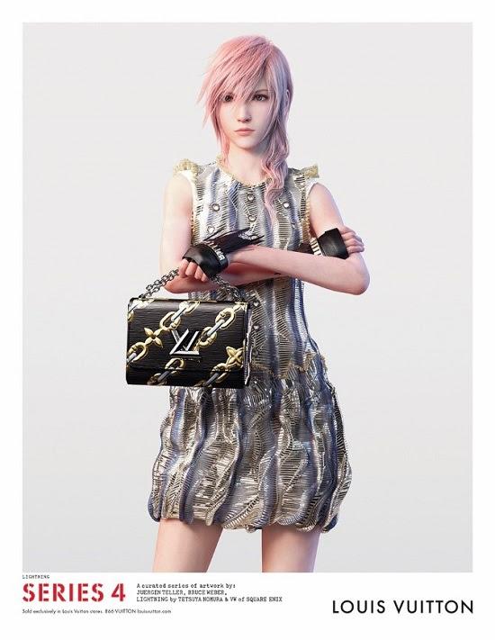 Lightning, héroïne de Final Fantasy XIII, designée par Tetsuya Nomura et utilisée comme égérie dans une campagne Louis Vuitton.