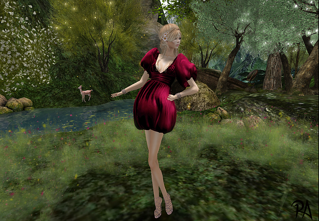 Second Life. MVL Lookbook. Robe Siluette Dress Virtual, Diva Couture. Cheveux : D!va Iris, Chaussures : Venus Shoes Made in Italy Pamela, Bracelet: Moondance Ceres.