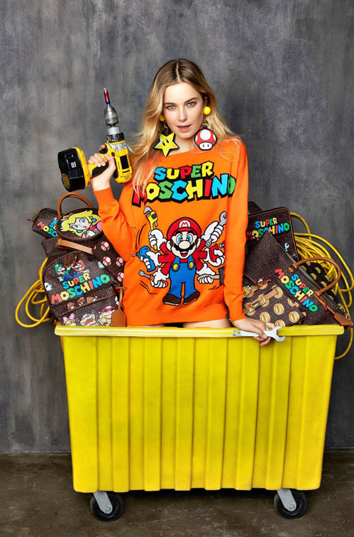 Super Mario & Moschino dans Vogue